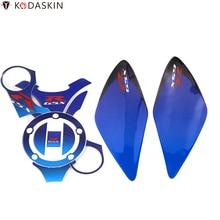 KODASKIN Tank Traction Gas Pad Knee Fuel Side Stickers Protectors for Suzuki GSXR1000 2007-2008