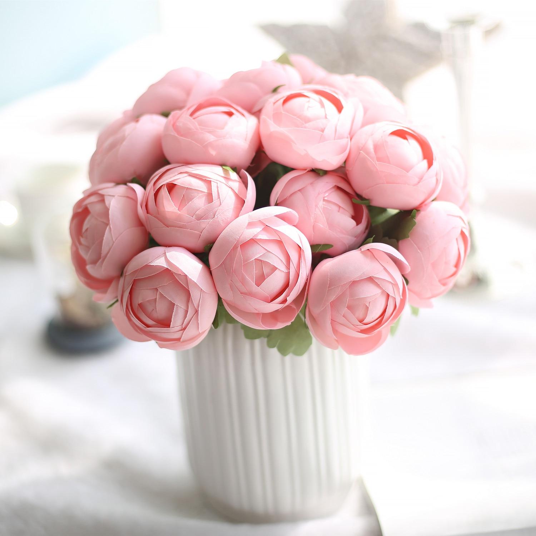 1 Bunch Silk Artificial Flower Lotus Flower Pink For Public Places