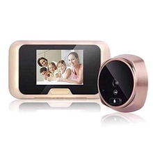 Video Doorbell 3.0 Inch Doorbell, Smart Electronic CatS Eye, Wireless Monitoring Hd Camera Integrated Infrared 3