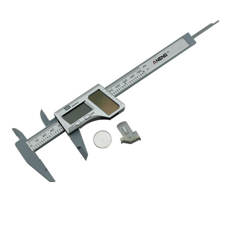 LCD Digital Solar Battery Dual Power Caliper Vernier Gauge Micrometer