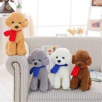 Bán buôn mô phỏng dễ thương bông con chó plush đồ chơi trẻ em món quà của sinh nhật cô gái con búp bê khăn