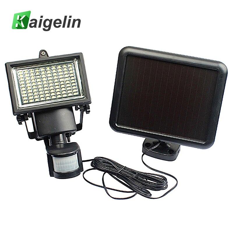 Kaigelin 100 LED Solaire Lumière D'inondation PIR Détecteur de mouvement Étanche Solaire LED Lampe Projecteur Extérieur Jardin Sécurité Spot Light