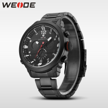 WEIDE casual genuine men LCD watch luxury brand sport digital watch stainless steelin quartz watches water resistant clock army цена