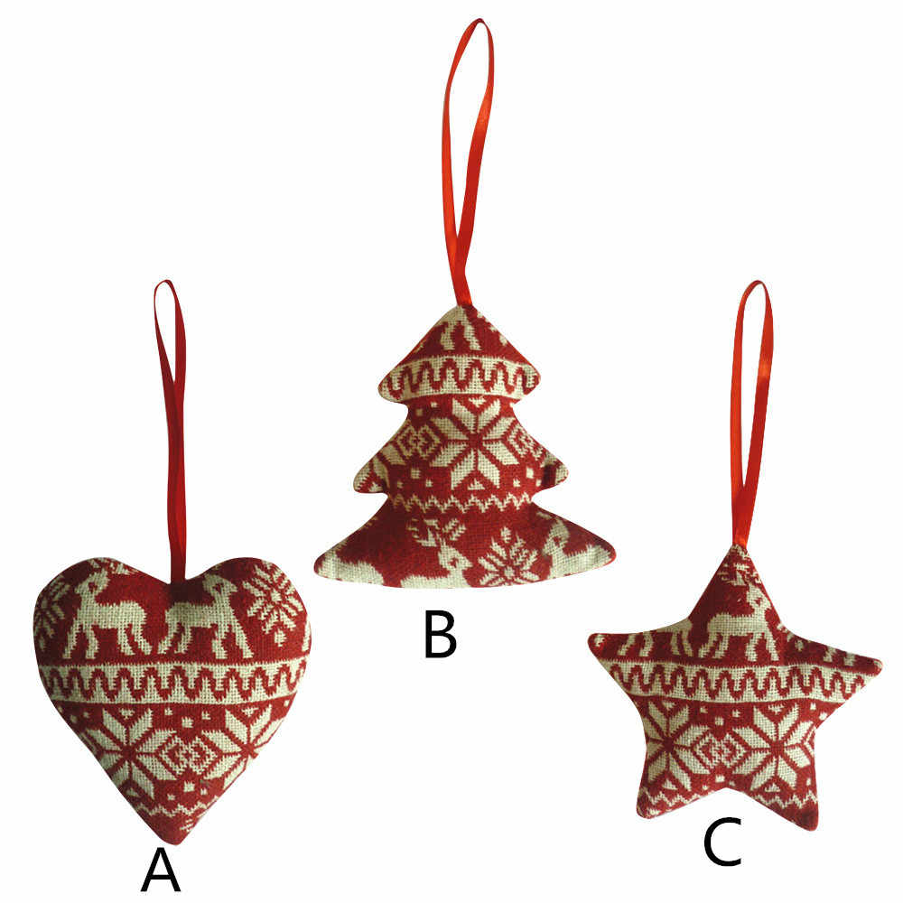 Christmas Decor Gifts Linen Pendant Tree Ornament Party Home Hanging Decor xmas decorations for home