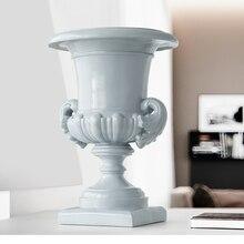 Roman column Flowers pot Vase resin decoration home tabletop for wedding garden large tall floor vase office desk decor