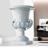 Roman column Flowers pot Vase resin decoration home tabletop for wedding garden large tall floor vase office desk decor vase