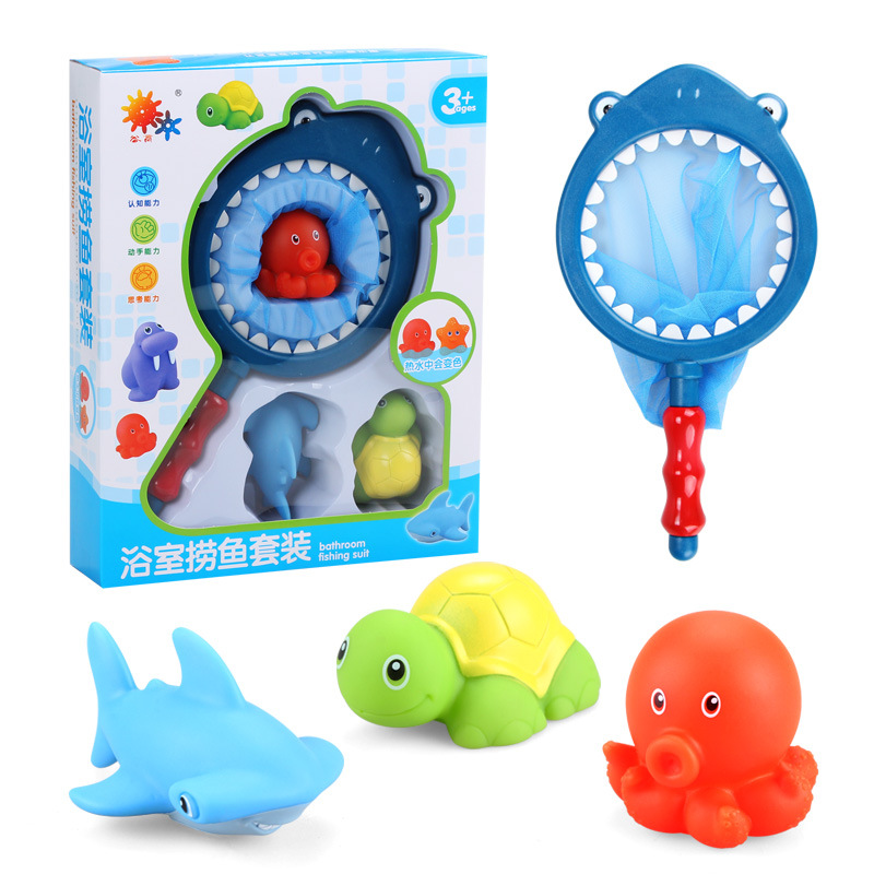baby bath toys for children kids child boys girls pool toys baby bath toy set bag net Shark Turtle Sea Lion Starfish Octopus