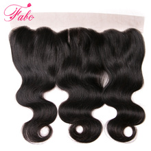 Fabc Hair Brazilian Body Wave  Lace Frontal Closure Remy Hair 13×4 Ear to EarThree Part Human Hair Closure Natural Color 10″-22″