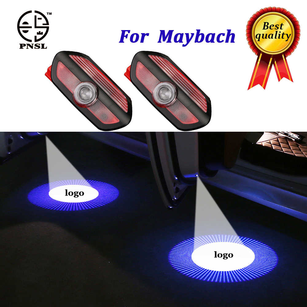 PNSL for Maybach welcome Car Door light puddle CIRCLE Shadow LED Courtesy Lights Backlight Car Styling Welcome lamp