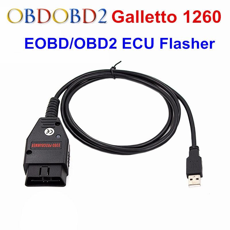 OBD2/EOBD Galletto 1260 ECU Chip Tuning OBD2 Diagnostic Interface EOBD 1260 ECU Flash Tool Remap Tool OBD2 Scanner Free Ship