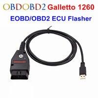 OBD2/EOBD Galletto 1260 eco Chip Tuning OBD2 interfaz de diagnóstico EOBD 1260 piezas de Flash herramienta de remodelación OBD2 escáner envío gratis