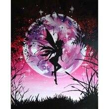 Diamond Embroidery DIY  Painting Moon Night Butterfly Fair Cross Stitch Rhinestone Mosaic