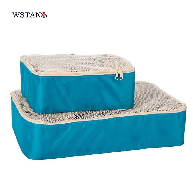 Ws тан 2015 одежда для хранения сумки мода одежда классификация обстановка путешествия нейлоновая сумка чистая визуальной сортировки чемодан