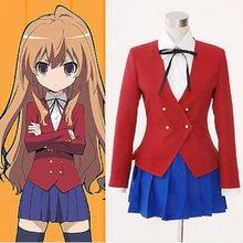 Anime tigre dragão toradora cosplay taiga aisaka cosplay traje uniformes escolares conjunto completo feito sob encomenda