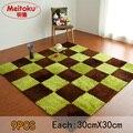 Meitoku puzzle de espuma eva macio vilosidades do jogo do bebê mat; telhas de assoalho de bloqueio; exercício tapete de pele, 9 pçs/lote Each30X30cm