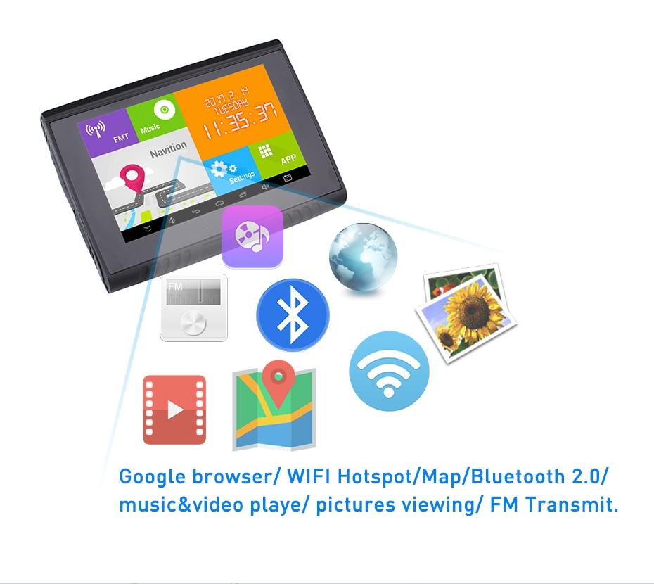 """""""Fodsports"""" 5.0 colių """"Android"""" 4.4.2 """"Motocycle"""" GPS - Automobilių Elektronika - Nuotrauka 4"""