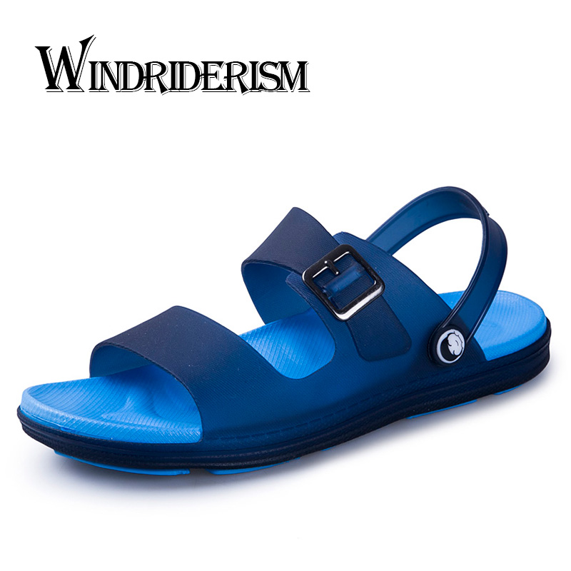 WINDRIDERISM 2019 New Arrival Men Sandals Jelly Summer Shoes Casual Beach Shoes For Mens Slippers Candy Color Flats Sandles