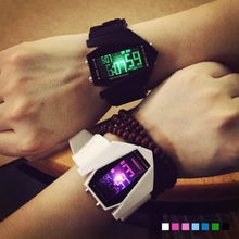 Fashion lovers watches Luminous LED Trendt Multifunctional student watches Electronic sports Watch Korea Wirst watch mini cute