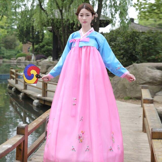 Brand New Tradizionale Coreano Hanbok Vestiti Asia Abiti Tradizionali Per  Le Donne Abiti Da Sera Costumi 20cc057b2cc