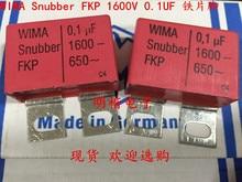 цена на 2019 hot sale 4pcs/10pcs Germany WIMA Snubber FKP 1600V 0.1UF 1600V 104 100n iron foot Audio capacitor free shipping