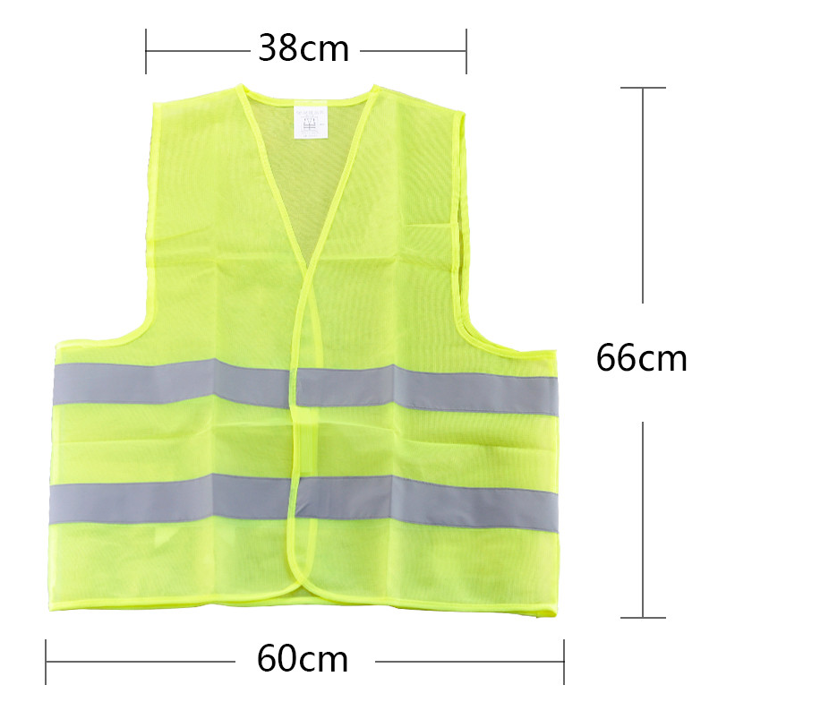 FGHGF High Visibility Reflective Fluorescent Vest Outdoor Safety Clothing Running Contest Vest Safe Light-Reflective Ventilate ccgk safety clothing reflective high visibility tops tee quick drying short sleeve working clothes fluorescent yellow workwear