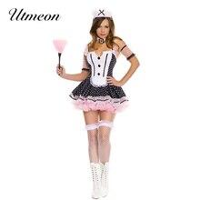UTMEON сексуальный горошек Кружева Косплей Французский костюм горничной для чудо-Женщины Хэллоуин Лолита Необычные Dirndl