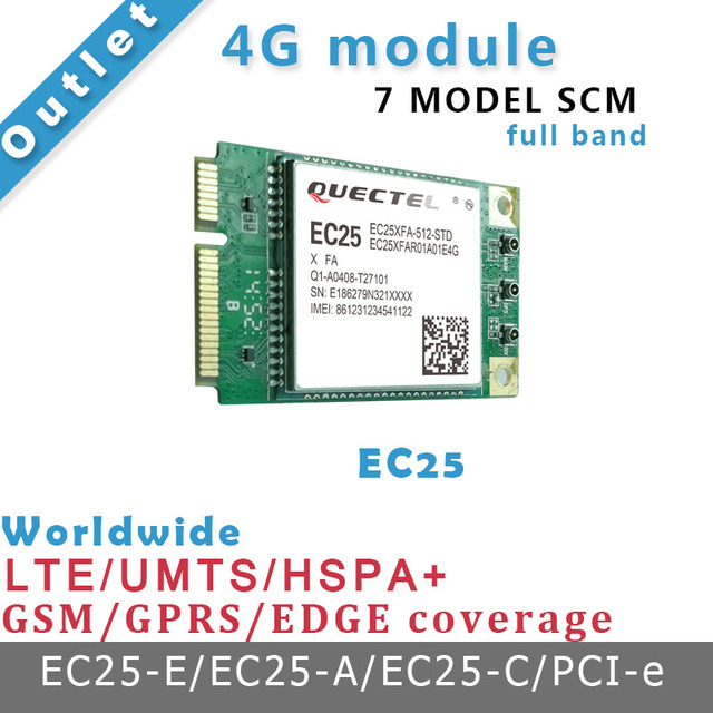 Módulo Quectel EC25 4g 4g placa de desenvolvimento Net Via interface PCIE 7 MODELO SCM trabalhar com cubieAIO A20 placa de demonstração
