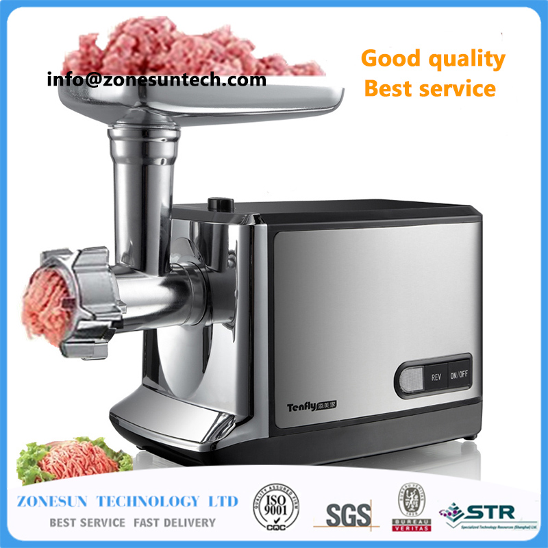 household meat grinder electric meat slicer cutter stainless steel automatic sausage filler vegetable mincer chopper machineF-85 household appliances electric meat grinder stainless steel meat grinder fully automatic broken vegetables ground meat