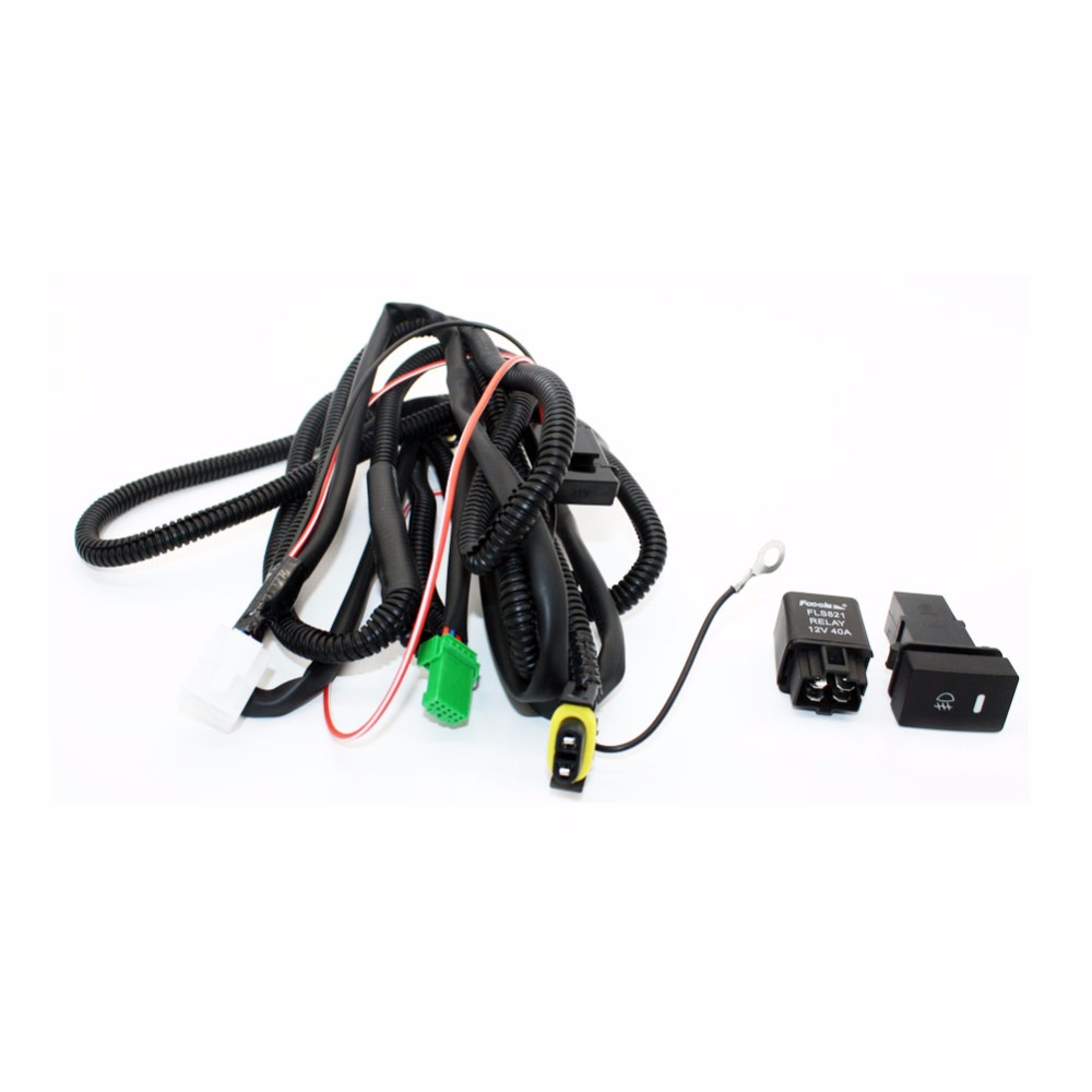 Set Wiring Harness Sockets Wire+Switch for H11 Fog Light Lamp for Ford Focus 2008-2014 <font><b>Acura</b></font> <font><b>TSX</b></font> RDX for Nissan Cube For Suzuki image