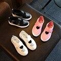 Conveniente esporte crianças shoes meninos meninas primavera verão plana desejo de couro casual shoes moda caçoa as sapatilhas