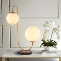 Современное светодиодное Стекло Настольная лампа шар золото столовая спальня лампа фойе
