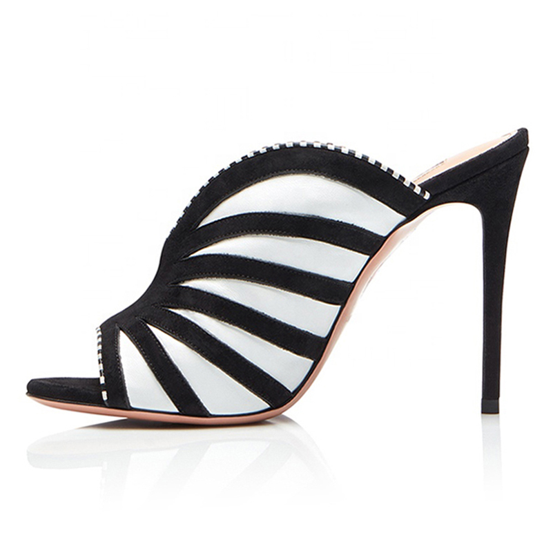 Womens-Open-Toe-High-Heel-Mules-Heeled