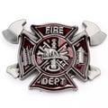Fashion Mens Belt Buckle Fire Dept Firefighters Belt Buckle Metal Cowboy Metal Buckle Belt Accessories