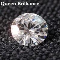 Odpowiednik diament carat waga 1 Carat 6.5mm F Kolor Okrągły Cut Lab Grown Luźne Test Pozytywna Moissanite Diament darmo wysyłka