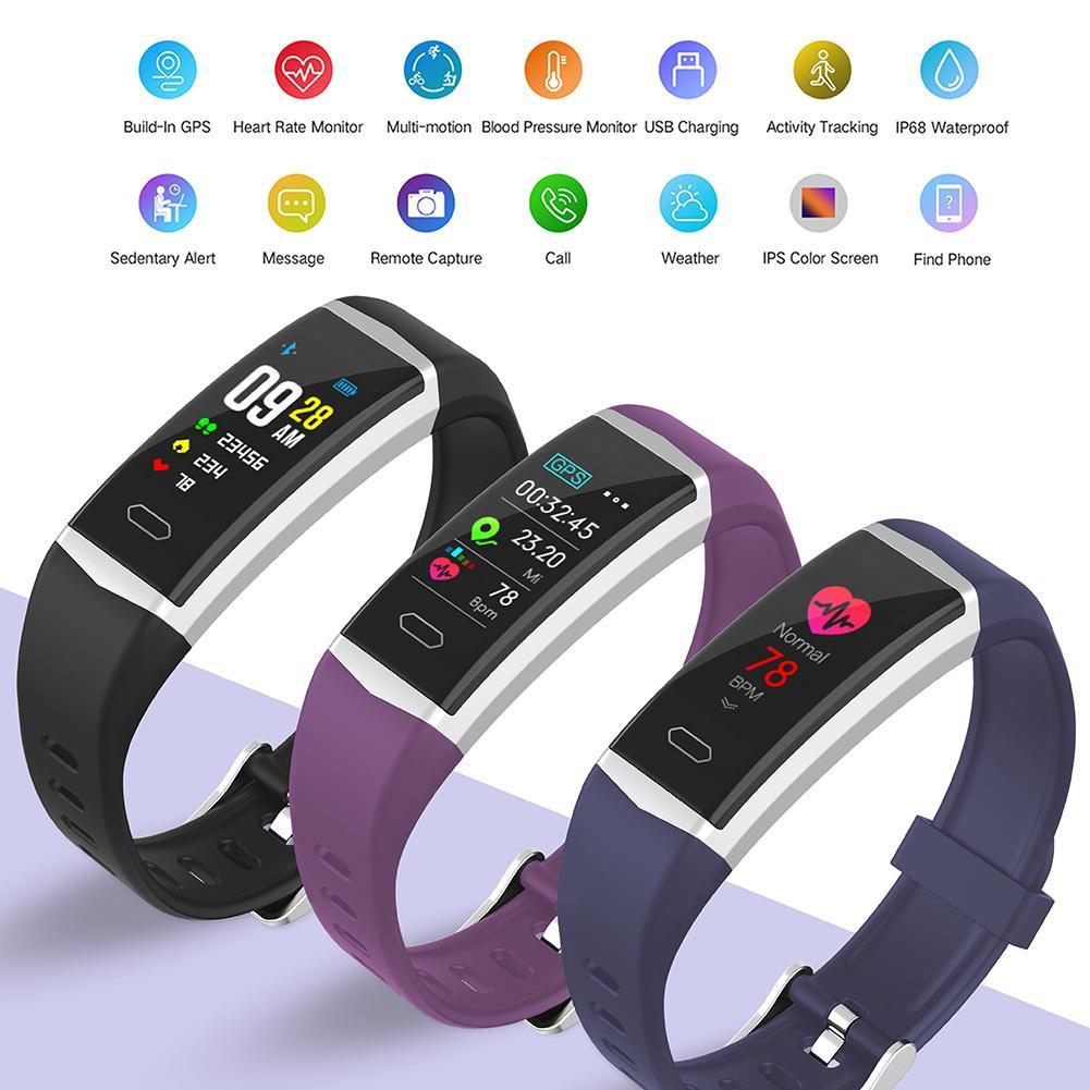 Color Screen Smart Bracelet GPS Outdoor Sports Smart Watch Heart Rate Blood Pressure Monitoring Deep Waterproof Smart Watches