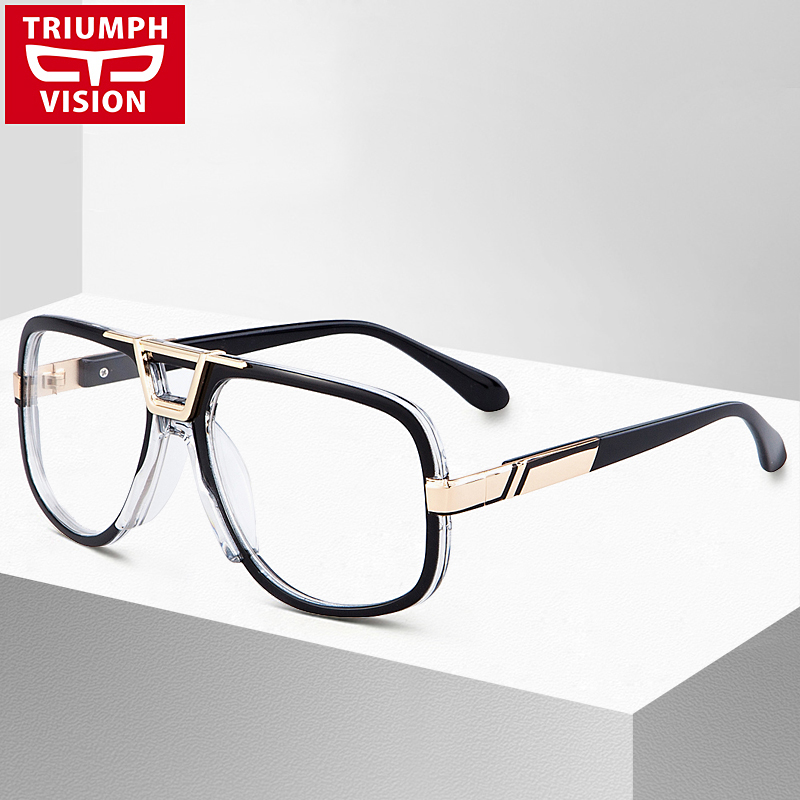 triumph vision high quality square eyewear frames men clear lens eyeglasses fashion pilot black male spectacle glasses frame