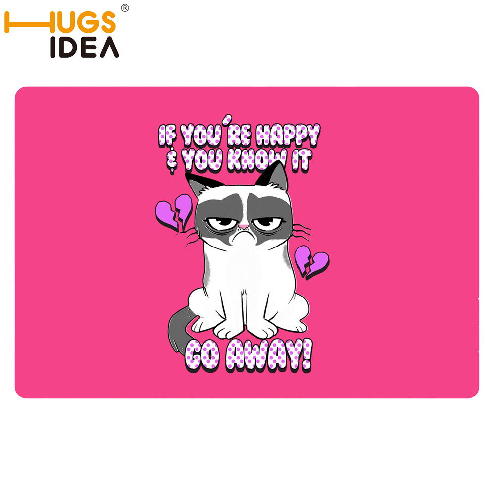 Funny bathroom rugs - Funny Unwelcome Pink Rugs And Carpets For Home Living Room Colorful Rug Go Away Cat Carpet