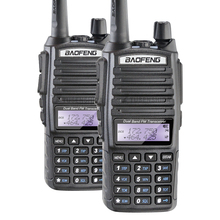 Hot Walkie Talkie UV 82 Baofeng 1 Pair Portable Radio With Double-PTT Earphone CB Ham VHF UHF