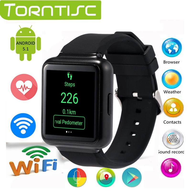 ФОТО Torntisc Q1 Android 5.1 OS 512MB+4GB Smart Watch MTK6580 Quad core 1.54' IPS smartwatch Support 3G Nano SIM WiFi GPS Google Play