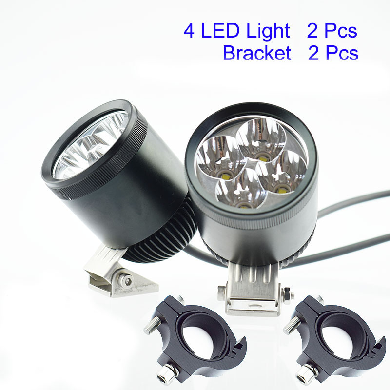 2Pcs Motor Driving Fog Lamp Spot Motorcycle Headlight Bicycle Auxiliary Spotlight Head Light U2 40W LED Chip 12V Motor Headlamp planeta organica planeta organica сыворотка вокруг глаз антиоксидант 10 мл