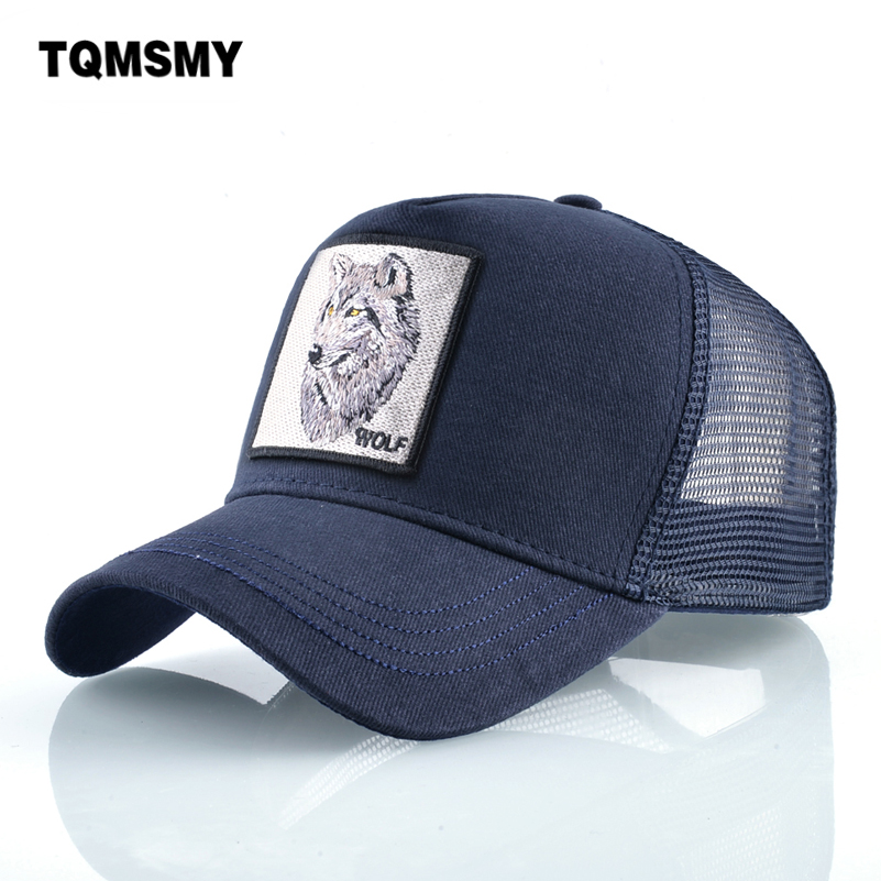 Embroidery Wolf pattern   caps   for mem Cotton Breathable Mesh   Baseball     Cap   women Snapback Hip Hop   cap   Sun visor Bone Gorras
