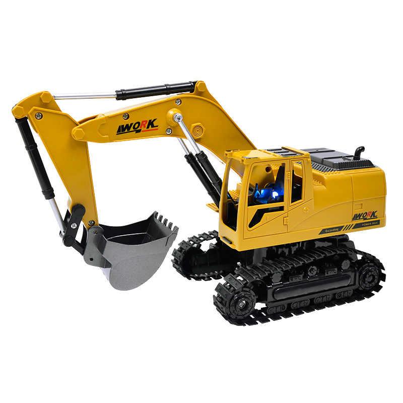 8CH Моделирование RC экскаватор музыкальные игрушки и свет детская обувь для мальчиков Игрушки для грузовых автомобилей RC подарки инженерные автомобиль трактор Brinquedos