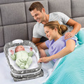 2017 New Baby Crib 0-8Months Baby Bed With Pillow Set Portable Foldable Crib With Newborn Cotton Sleep Travel Bed Wrapped YL472