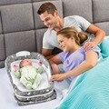 2017 Nuevo Bebé Cuna $ number Meses de Bebé Juego de Cama Con la Almohada Cama de Viaje portátil Plegable Cuna Con ropa de Dormir de Algodón Recién Nacido Envuelto YL472