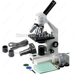 Szkolenie dydaktyczne-AmScope dostarcza 40X-2500X zaawansowane domu szkoły mikroskop z mechaniczny etap i 1.3MP kamery