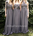 De calidad superior muestra verdadera Hot venta elegante gris o Coral largo Convertible vestidos noche asequible vestido de fiesta Formal