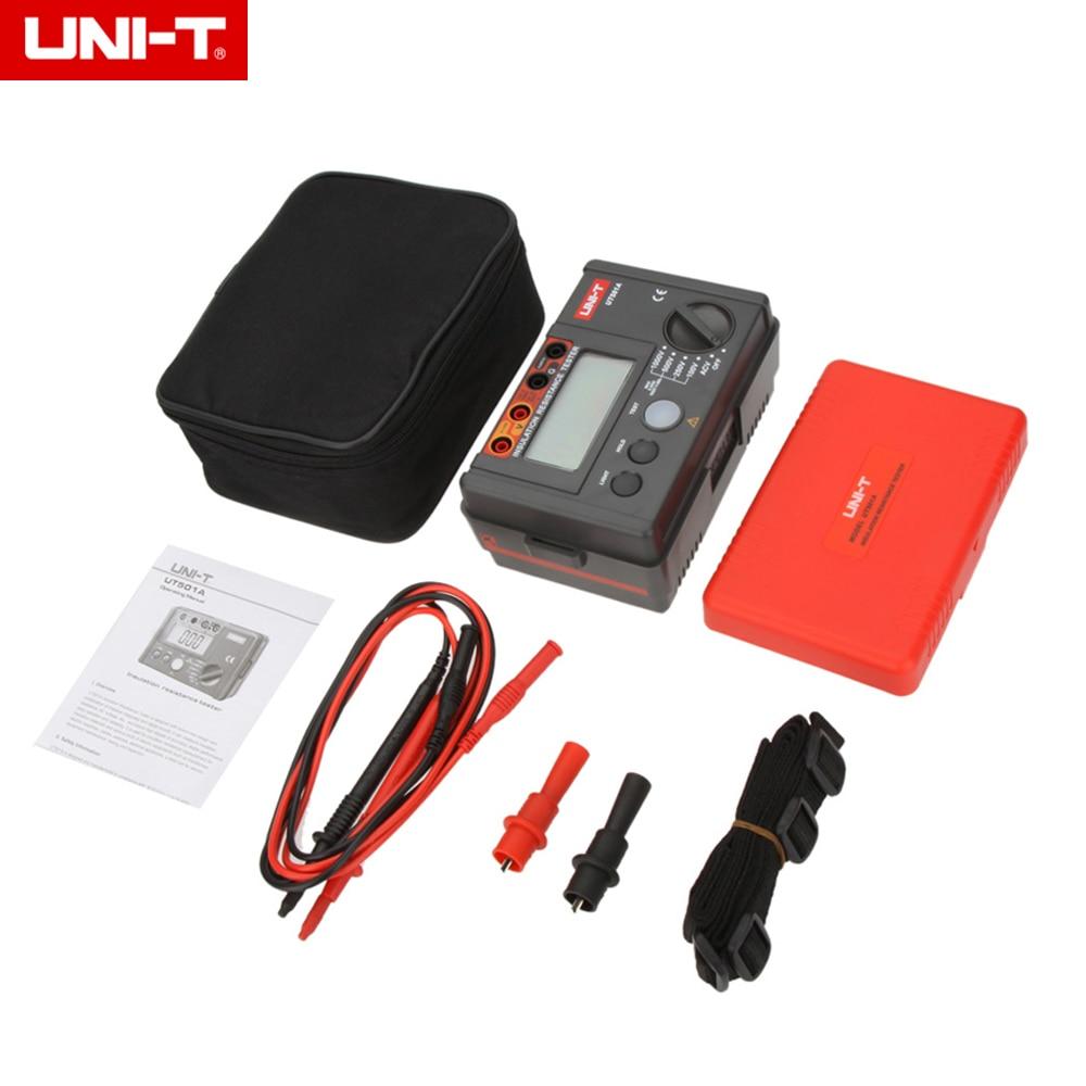 UNI-T UT501A 1000V megger Insulation earth ground resistance meter Voltmeter w/LCD Backlight