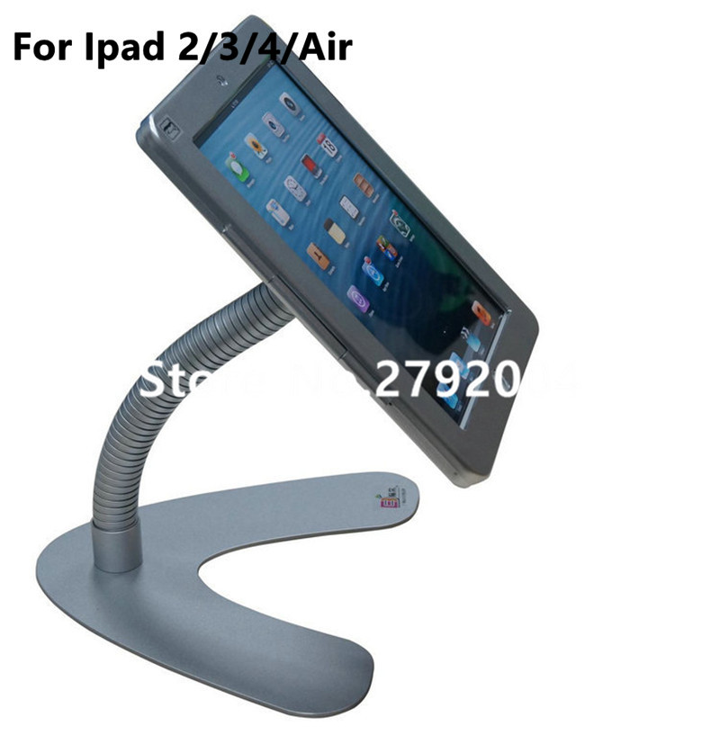 for iPad 2/3/4 /air/pro 9.7 table security stand with flexible gooseneck arm mounting on table or countertop display on shop for ipad 2 3 4 air pro 9 7 table gooseneck lock mount display on restaurant security desktop holder mounting on shop