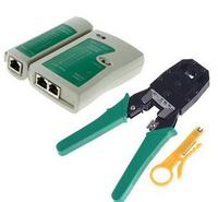Portable RJ45 RJ11 RJ12 Wire Cable Crimper Crimp Cutting Stripper PC Network Hand Tool Pliers And