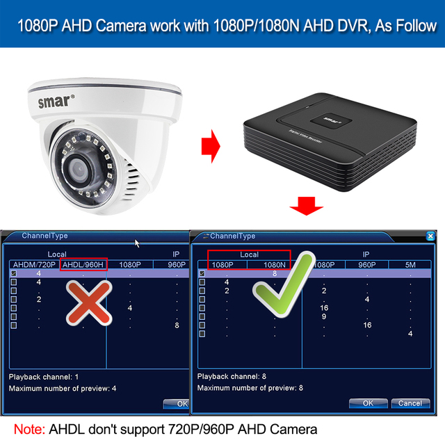 Smar AHD IP camera 1080P 720P With 18pcs Nano IR Led Night Vision cctv 5
